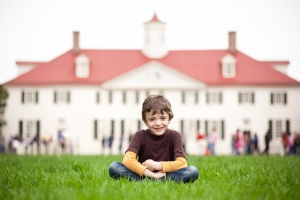 Child at Mount Vernon in Northern Virginia
