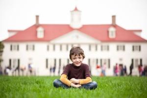 Child at Mount Vernon in Northern Virginia