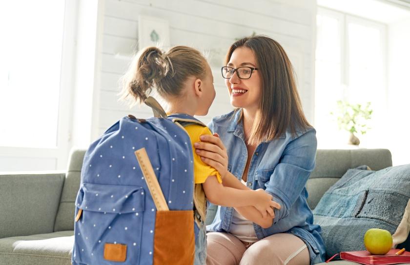 Parent and pupil of preschool.